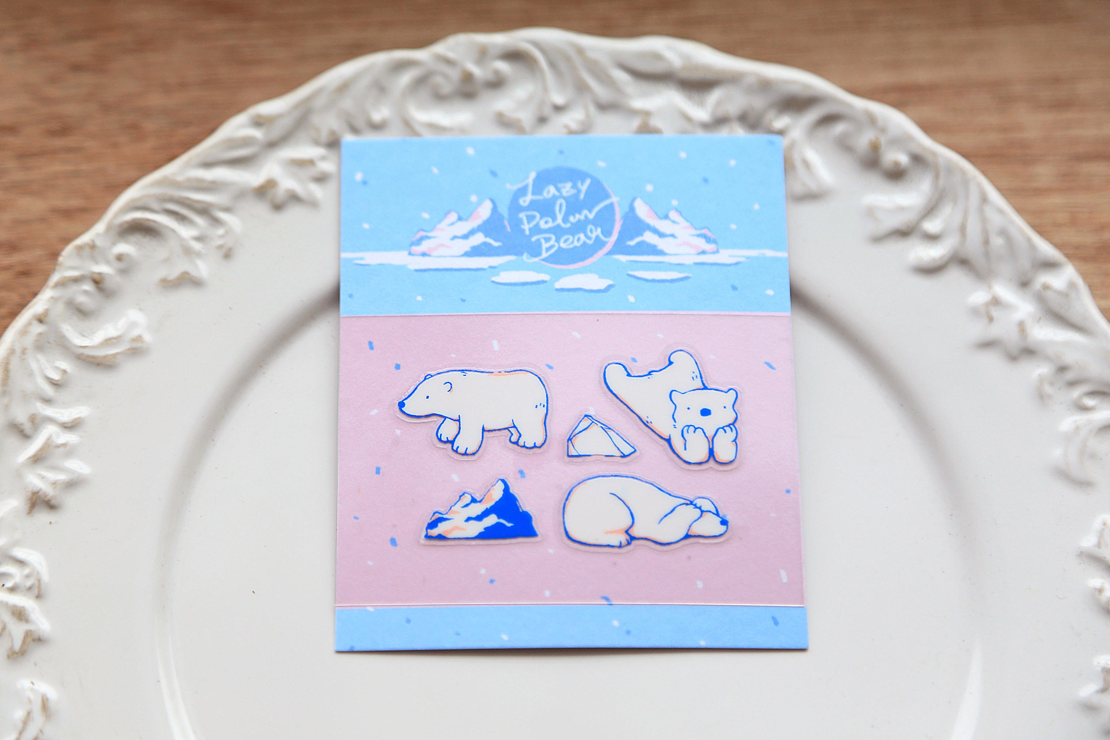轉印裝飾貼紙 - Lazy Polar Bears #2
