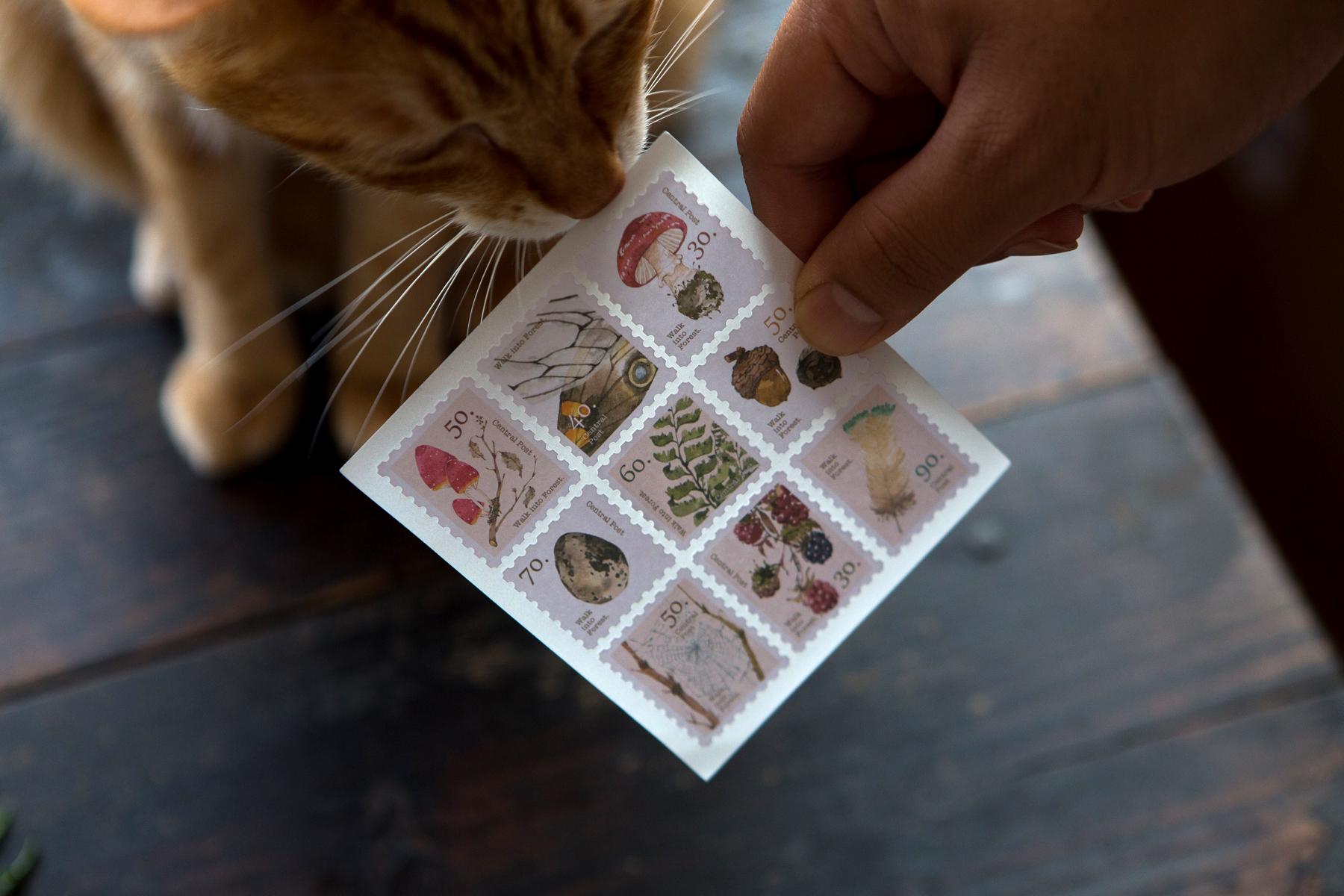 Central Post 郵票貼紙 - 午茶時光