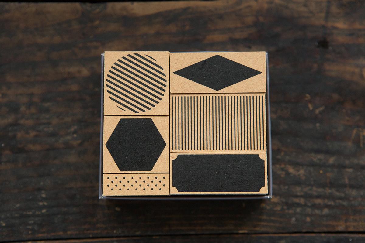 幾何色塊 自黏印章組 - 色彩工坊系列
