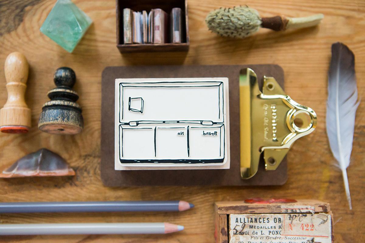 調色盤色彩紀錄章 楓木印章 - 色彩工坊系列