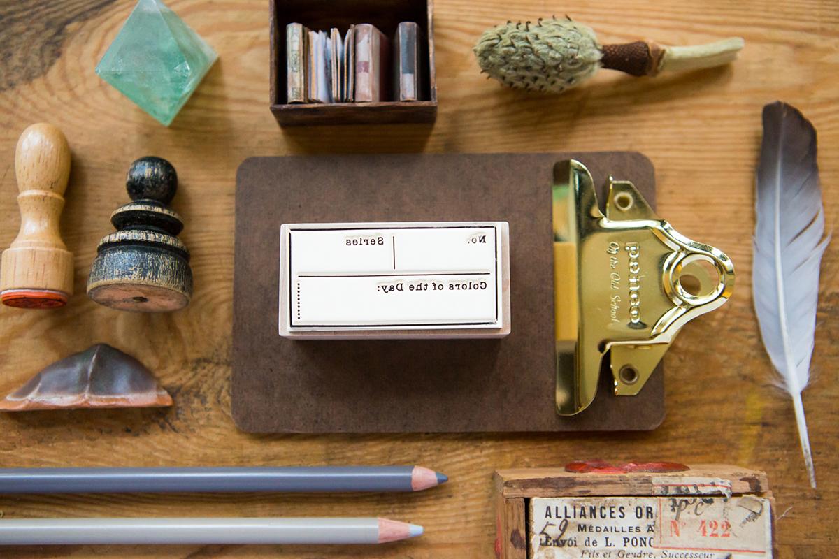 每日色彩紀錄章 楓木印章 - 色彩工坊系列