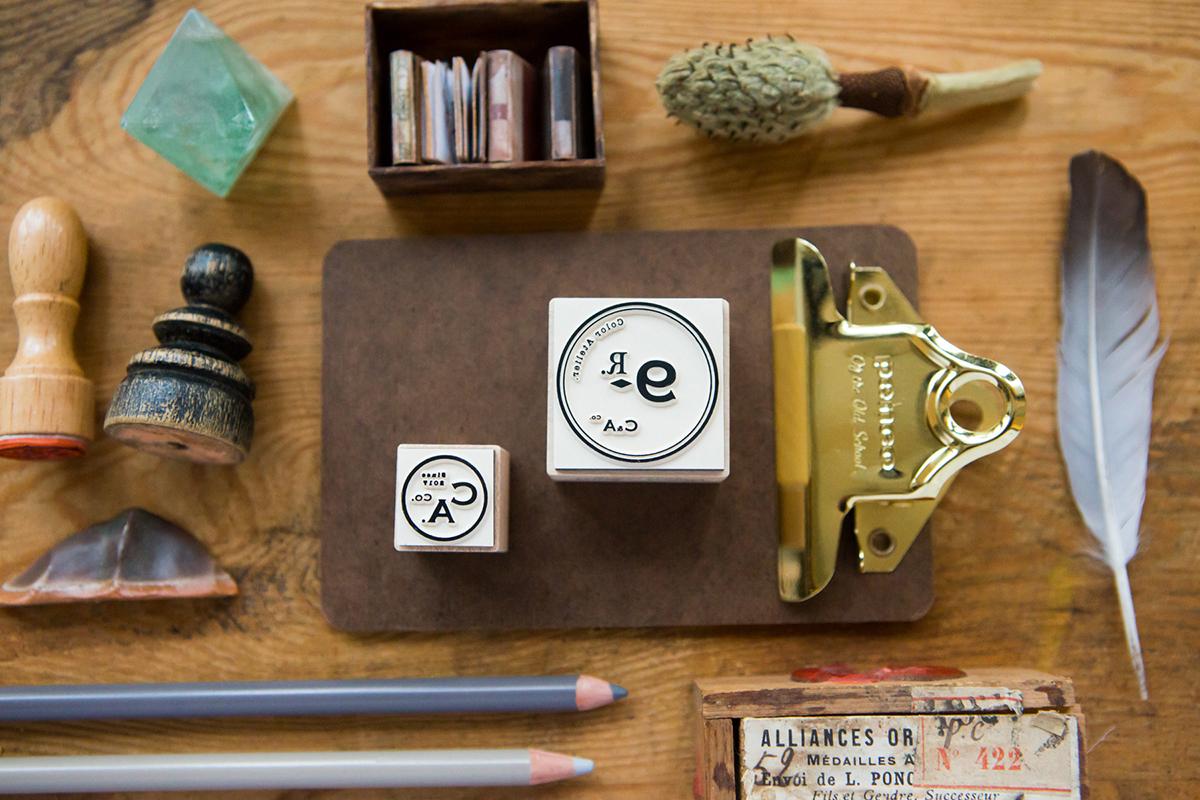 復古Logo C 楓木印章 - 色彩工坊系列