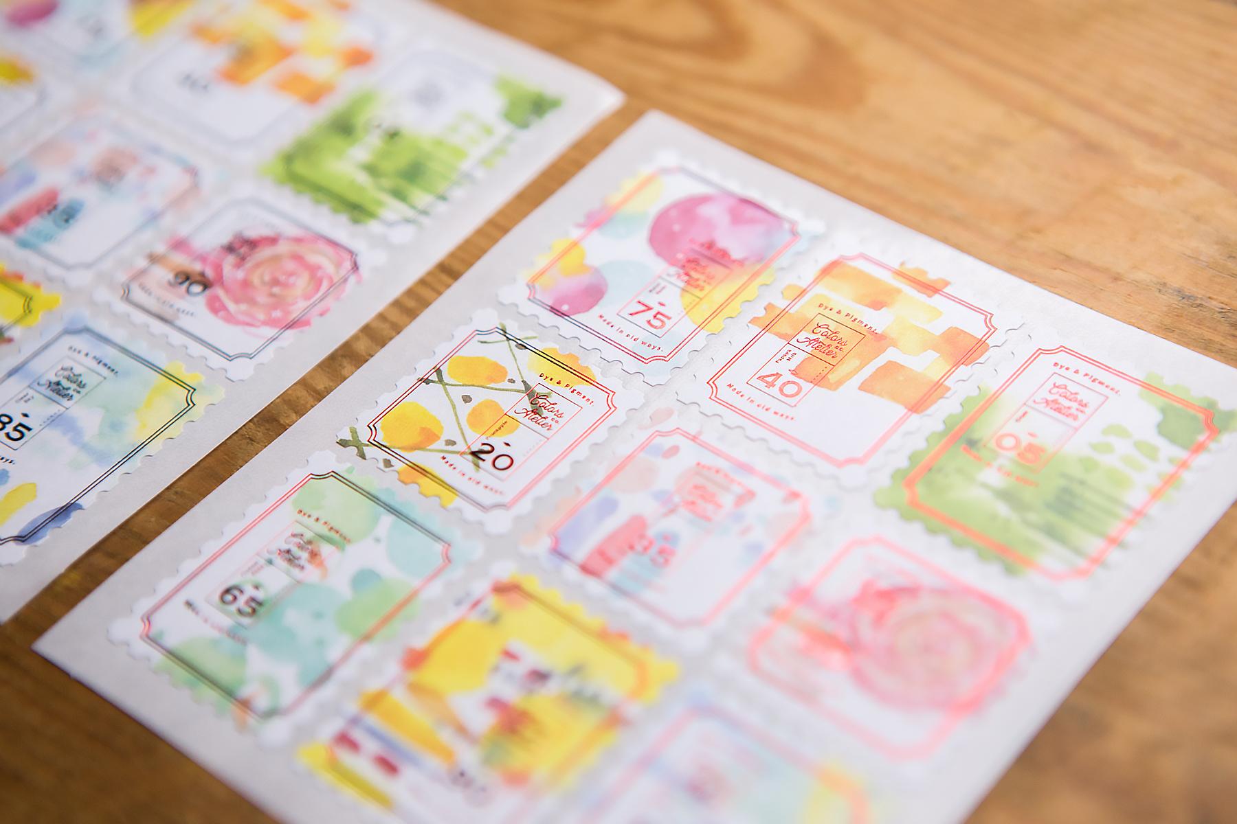 色彩遊戲 - Central POST 郵票造型貼紙